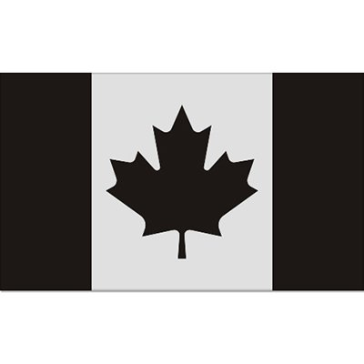 Canada Subdued Military Flag Car Vinyl Sticker - SELECT SIZE