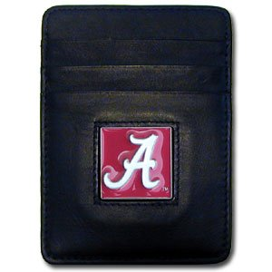 NCAA Alabama Crimson Tide Leather Money Clip/Cardholder (Tide Clip Paper Alabama Crimson)