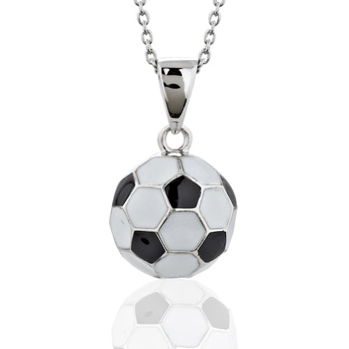 Sterling Silver Soccer Pendant Necklace product image
