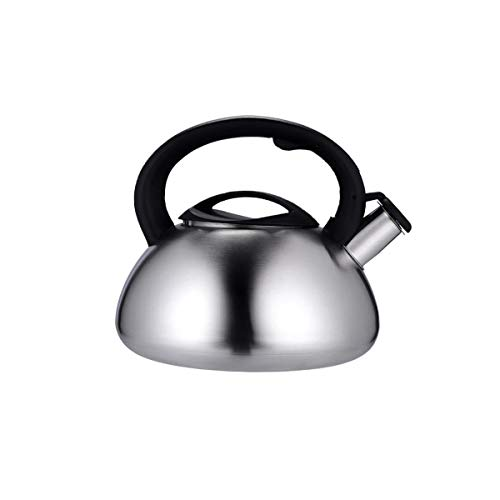 Xiaoxian Kettle, Suitable for Home Kitchen, Outdoor, Stainless Steel Kettle, Induction Cooker Gas Stove Whistle teapot, Silver, 3L, (21 16) cm, 4.5L (24 18) cm So Sweet.