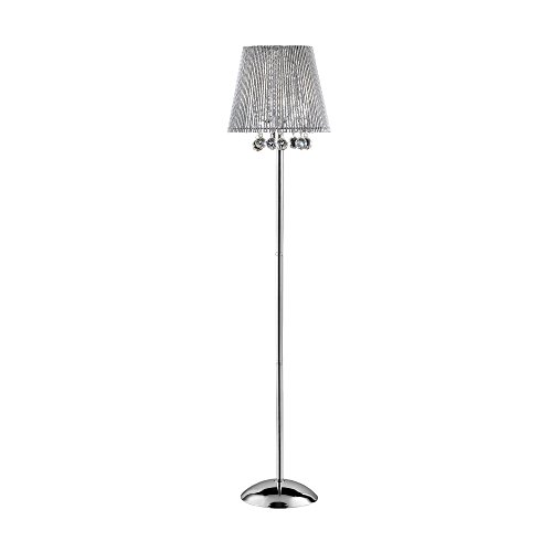 ORE International K-5142F Dreamer Crystal Floor Lamp, 64.50-Inch Height ()