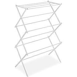 Whitmor Foldable Drying Rack White