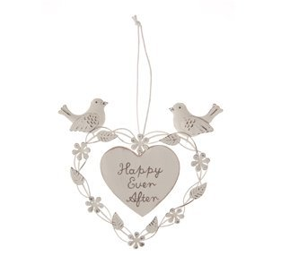 10 Shabby Chic DOVE BIRD hanging decorations wedding Christmas Sass /& Belle