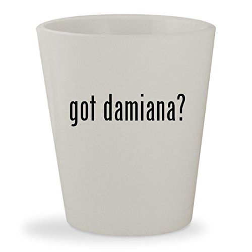 got damiana? - White Ceramic 1.5oz Shot Glass Damiana Liqueur