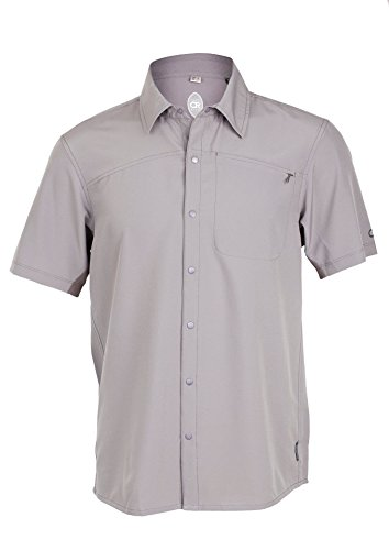 Club Ride Men's Short Sleeve Snap Down Top, Color: Storm Grey, Size: M (MJPC601SGM)