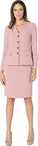 Tahari by ASL Women's Skirt Suit with Inverted Collar Primrose 12 -