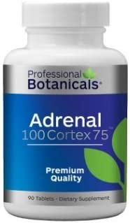Professional Botanicals Adrenal 100 Cortex 75-90 Tablets