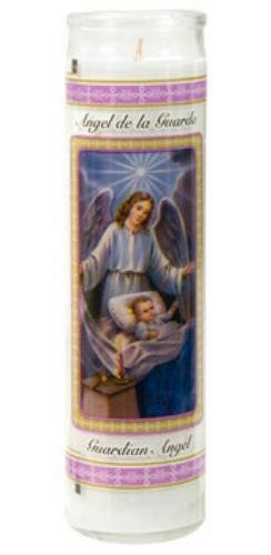 (Pack of 2) 8 Inch Devotional Unscented Candles (Guardian Angel) - Devotional Candles