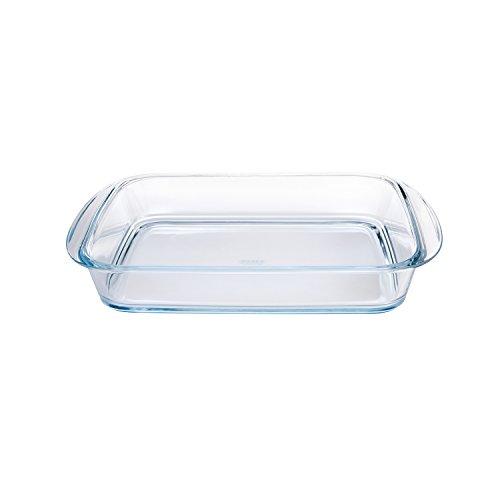 Pyrex 4936921 Ofenform, rechteckig, Glas, 35 x 23 cm, transparent