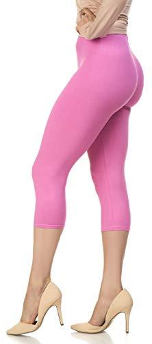 Soft Pink Capris - Lush Moda Extra Soft Leggings - Variety of Colors - One Size - Spring Azalea