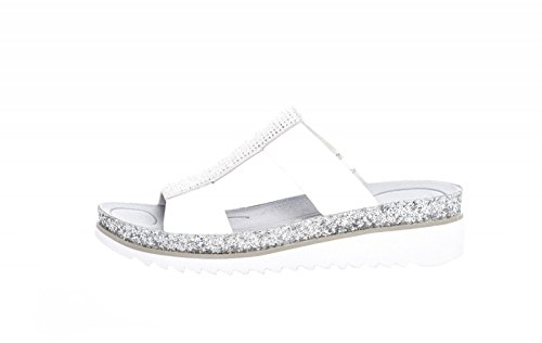 Mujeres Weiss ice weiss glitter 83 Zapatos Abiertos Gabor glitter 720 Plata ice 21 AwqOqnCx