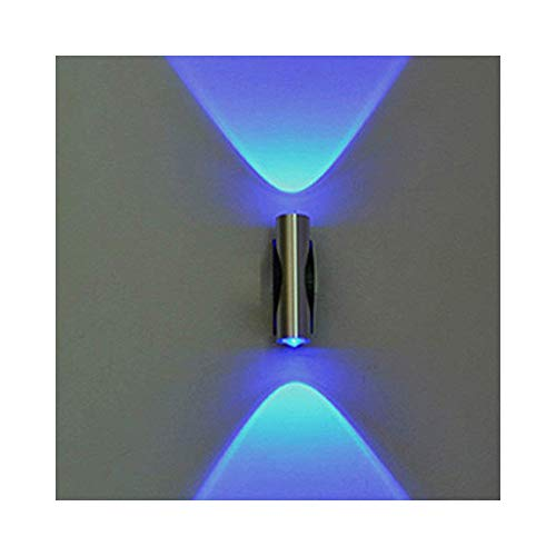 - JAWM Modern Double-Headed LED Wall Lamp Home Sconce Bar Porch Wall Decor Ceiling Light Blue