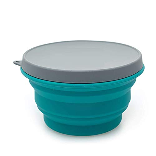 Alwaysuc Collapsible Silicone Bowl with Lid 1000ML for Outdoor Camping, Travel, Hiking and Indoor Home Kitchen, Office, School Student, Food-Grade, Space-Saving by Alwaysuc