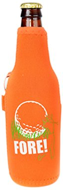 Hat Trick Openers Fore Logo Bottle Cooly and Magnetic Ball Marker, Orange Neoprene ()