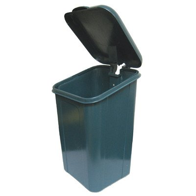 DOGIPOT 1208-L Trash Receptacle with Polyethylene Lid and Liner Trash Bags, Polyethylene