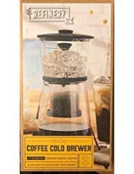 Refinery Coffee Cold Brewer, Slow Drip Cold Brew Maker, Best Coffees and Teas, Lower Acidity and Bitterness, No Extra Filters Needed, Adjustable Drip Rate Controls Intensity, 17 Fl. Oz./500 ML, Glass (Best Slow Drip Coffee Maker)