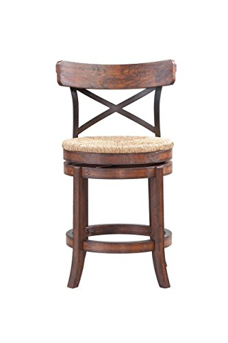 Back Bar Swivel Custom Stool - Boraam 76824 Myrtle Counter Height Stool, 24-Inch, Mahogany