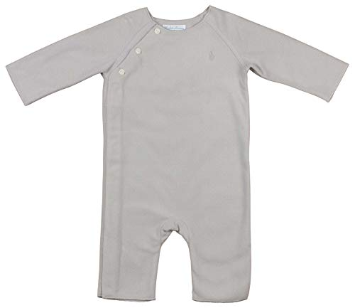 Ralph Lauren Baby Girls' Fleece Coverall (6 Months, Grey Heather)