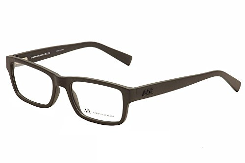 Armani Exchange AX3023 Eyeglass Frames 8078-53 - Matte Black - Optical Glasses Armani