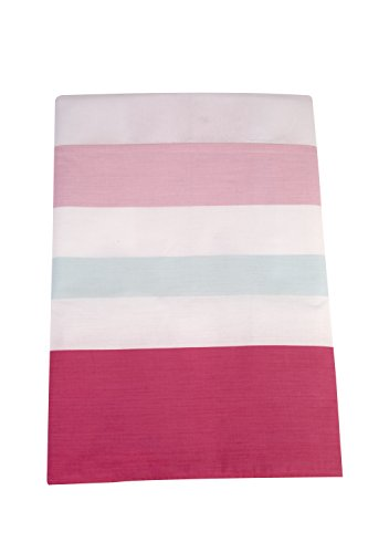 Happy Chic Baby by Jonathan Adler Olivia, Dust Ruffle, Pink, Aqua, (Crib Dust Ruffle Dimensions)