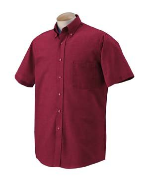 Van Heusen Men's Short-Sleeve Wrinkle-Resistant Oxford