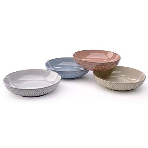 Rustic Print 8.5 Dinner or Pasta Bowl Set of 4 from Signature Housewares