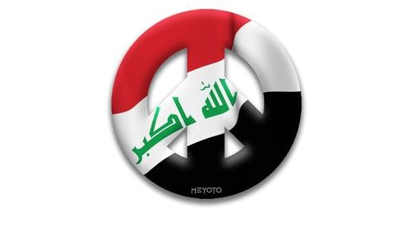 Amazon com : Peace Symbol Magnet of Iraq Flag by MEYOTO LLC