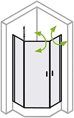 Ducha de esquina con 2 puertas correderas, 90 x 90 cm, altura 200 cm, 3 piezas, tipo 5005223, parte trasera izquierda, cristal transparente, aluminio plateado.: Amazon.es: Bricolaje y herramientas