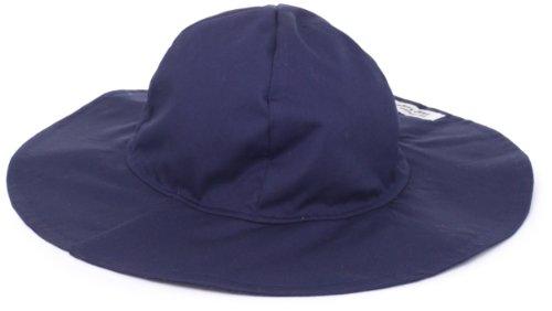 Flap Happy Little Girls' UPF/UV50+ Floppy Hat, Navy, Medium