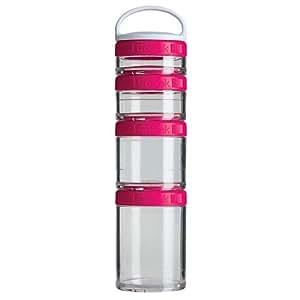 BlenderBottle GoStak Starter Storage Jar Pack of 4 - Pink