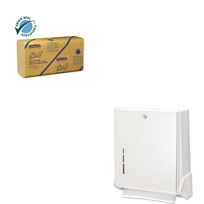 (KITKIM01801SJMT1905WH - Value Kit - KIMBERLY CLARK Recycled Multifold Towels (KIM01801) and San Jamar True Fold Metal Front Cabinet Towel Dispenser (SJMT1905WH))