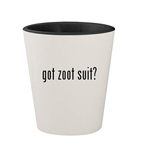 got zoot suit? - Ceramic White Outer & Black Inner 1.5oz Shot Glass -