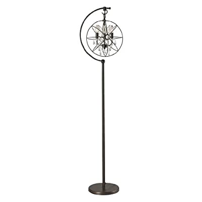 "Dimond Lighting D2422 Restoration Globe Floor Lamp, 16"" x 13"" x 16"", Oil Rubbed Bronze - Bulb Number: 3 Bulb Type: 60 Watt Candles On/Off: Foot Line Switch - living-room-decor, living-room, floor-lamps - 31Gcb9N7rRL. SS400  -"