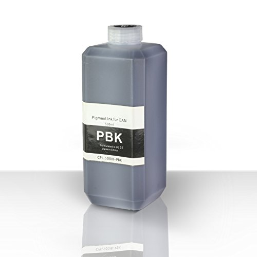 1 Large Bottles (500ml) Refill Ink - ALLINKTONER Photo Black Pigment for PIXMA Printers (1 Pgi 9pbk Photo)