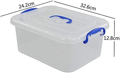 Joycky Caja De PláStico PequeñA, Transparente Caja Plastico y Tapa, Caja De Almacenamiento Multiusos, 6 Unidades: Amazon.es: Hogar