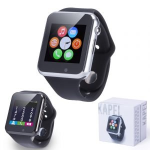 Reloj Inteligente, con correa de silicona, 20 Funciones, Conexión Bluetooth, Pantalla LCD