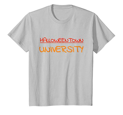 Kids Halloween Costumes Funny T-Shirt Halloween Town University 6 Silver -