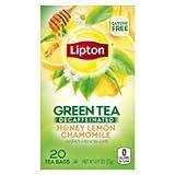 Lipton, Decaffeinated Green Tea, Honey Lemon Flavor (Pack of 4)