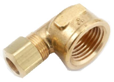 Anderson Metals 750070-0606 3/8CMPx3/8FPT Brass Elbow - Quantity 5