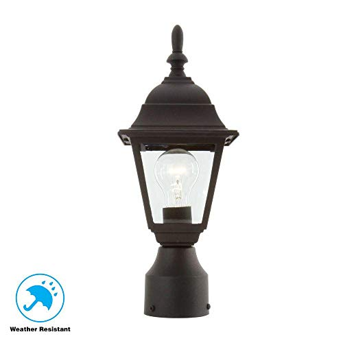 Hampton Bay 1-Light Black Outdoor Lamp