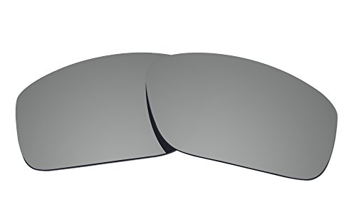 COLOR STAY LENSES 2.0mm Thickness Polarized Replacement Lenses for Oakley Straightlink OO9331 Titanium Mirror Coatings by COLOR STAY LENSES