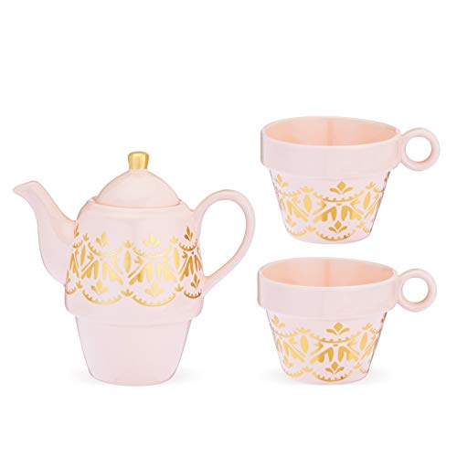 Pinky Up 9449 Taylor Casablanca Tea for Two, One Size, Pink and Gold