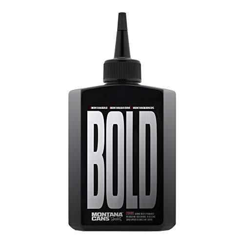 Montana Bold Marker Ink, 200ml Bottle, Black (468346)