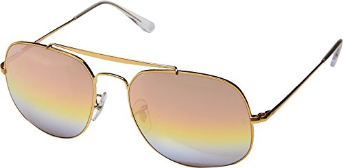 Ray-Ban Unisex 0RB3561 The General 57mm Light Bronze/Pink Gradient Mirror One Size by Ray-Ban