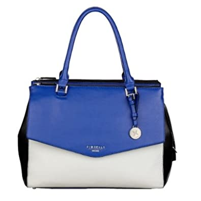 e83e212baf3 FIORELLI Harper Black Blue White Shoulder Bag FH7957-COBALT-B   Amazon.co.uk  Jewellery