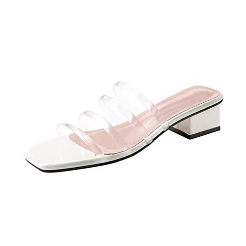 Noir Été Slip Cheville Loisir Sangle Mode 38 Nouvel Pantoufles Sandales Rose Yan Pu De Chaussures ons B a Blanc Nouveauté Femmes wqOB11aX