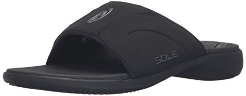 (SOLE Men's Sport Slide,Raven,10 D M US)