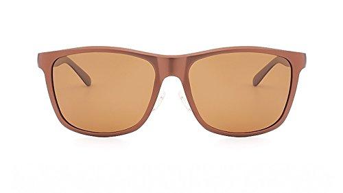 de Yellow de la Lunette Aluminio Marca de Soleil Hombres Homme Diseñador Black Sombras MY Sol Gafas Gafas polarizadas Color UV400 los de la Vendimia de Hombre fPH45Hqz8