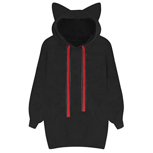 Fall Blouse,Morecome Womens Cat Long Sleeve Hoodie Sweatshirt Hooded Pullover Tops Blouse by Morecome Fall