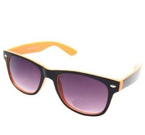 Black negro TM 4sold Gafas de sol con diseño cristales unisex Negro Yellow ahumados ochentero OwwqU4Pn